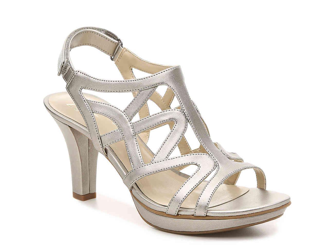 Danya Metallic Caged Dress Sandals dYutoWpd69