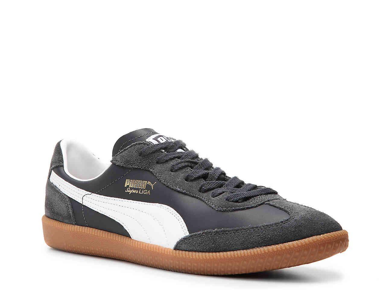 Men's Blue Super Liga Og Retro Leather Sneaker