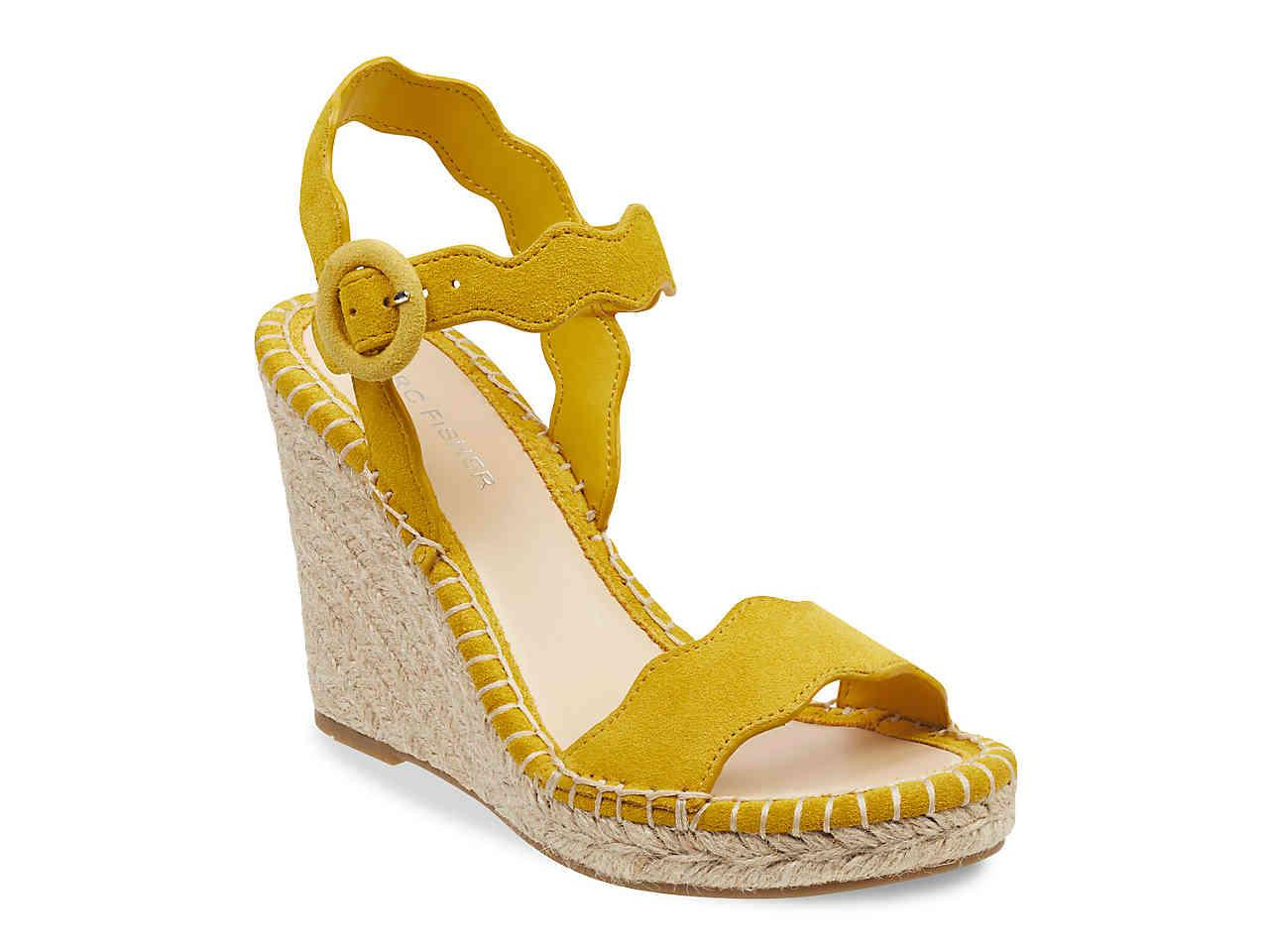 88ce1f89533 Lyst - Marc Fisher Kai Espadrille Wedge Sandal in Yellow