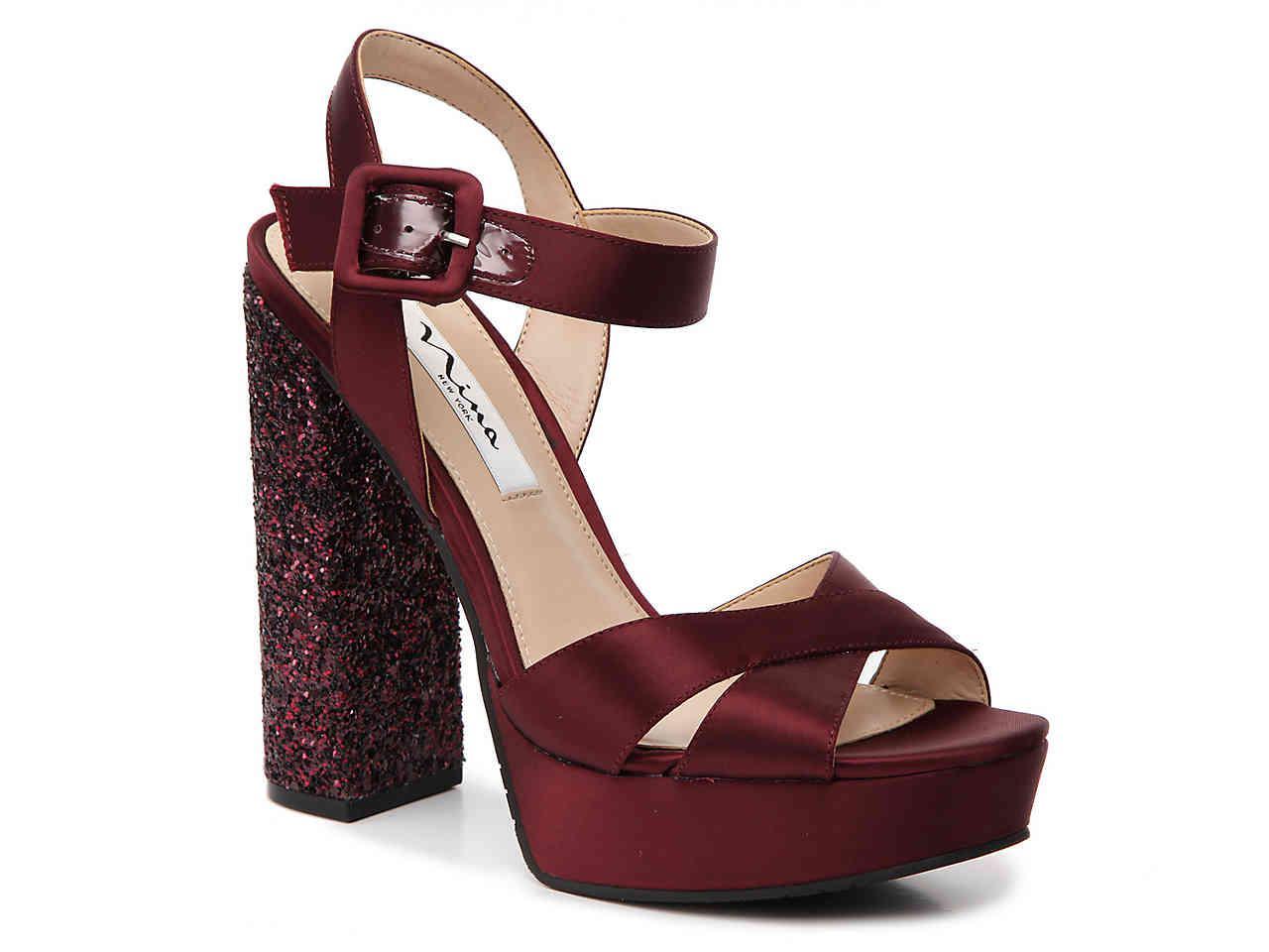 d53e2e36623 Lyst - Nina Savita Platform Sandal in Red
