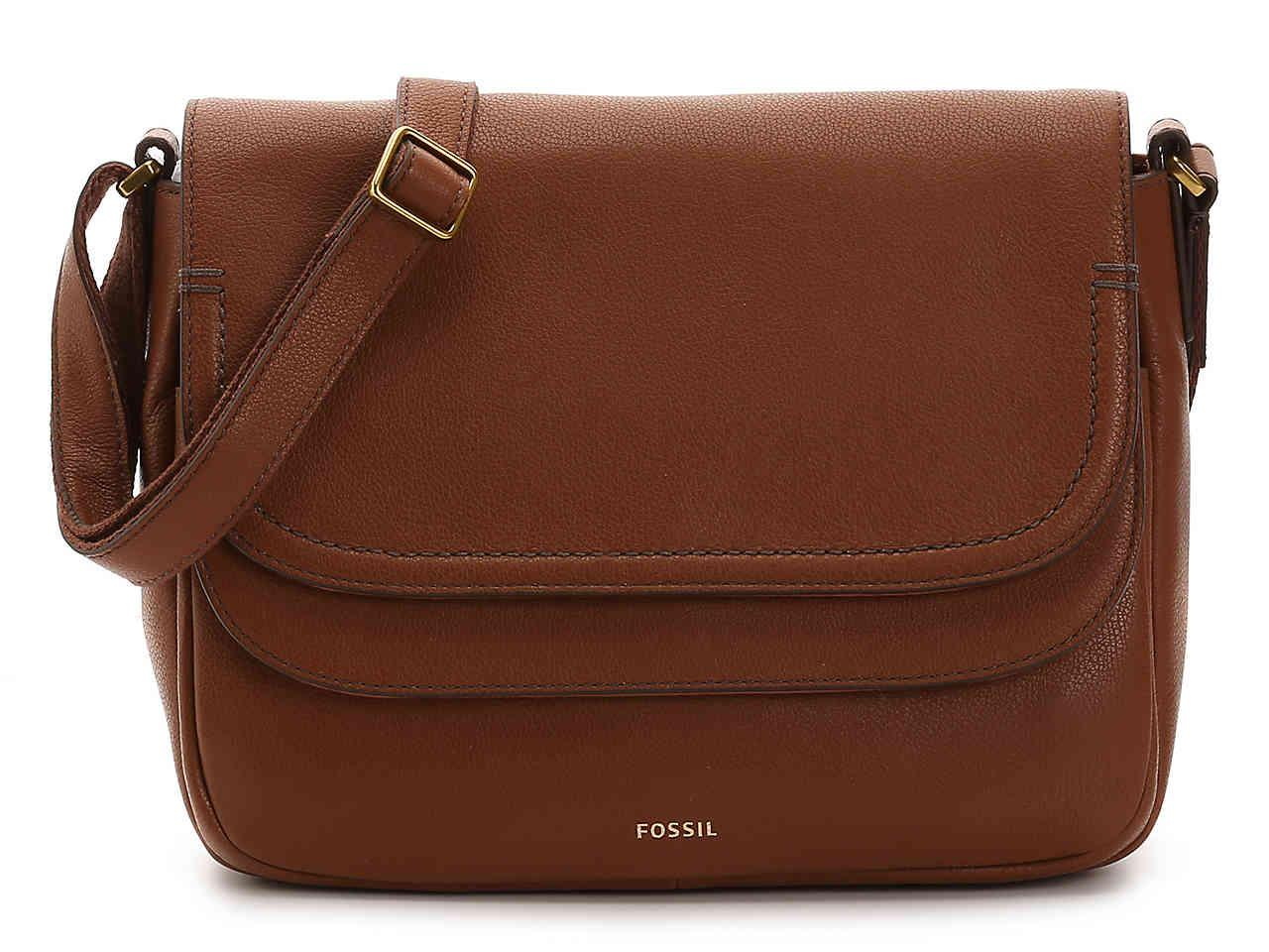 934679ecf1 Lyst - Fossil Peyton Leather Crossbody Bag in Brown