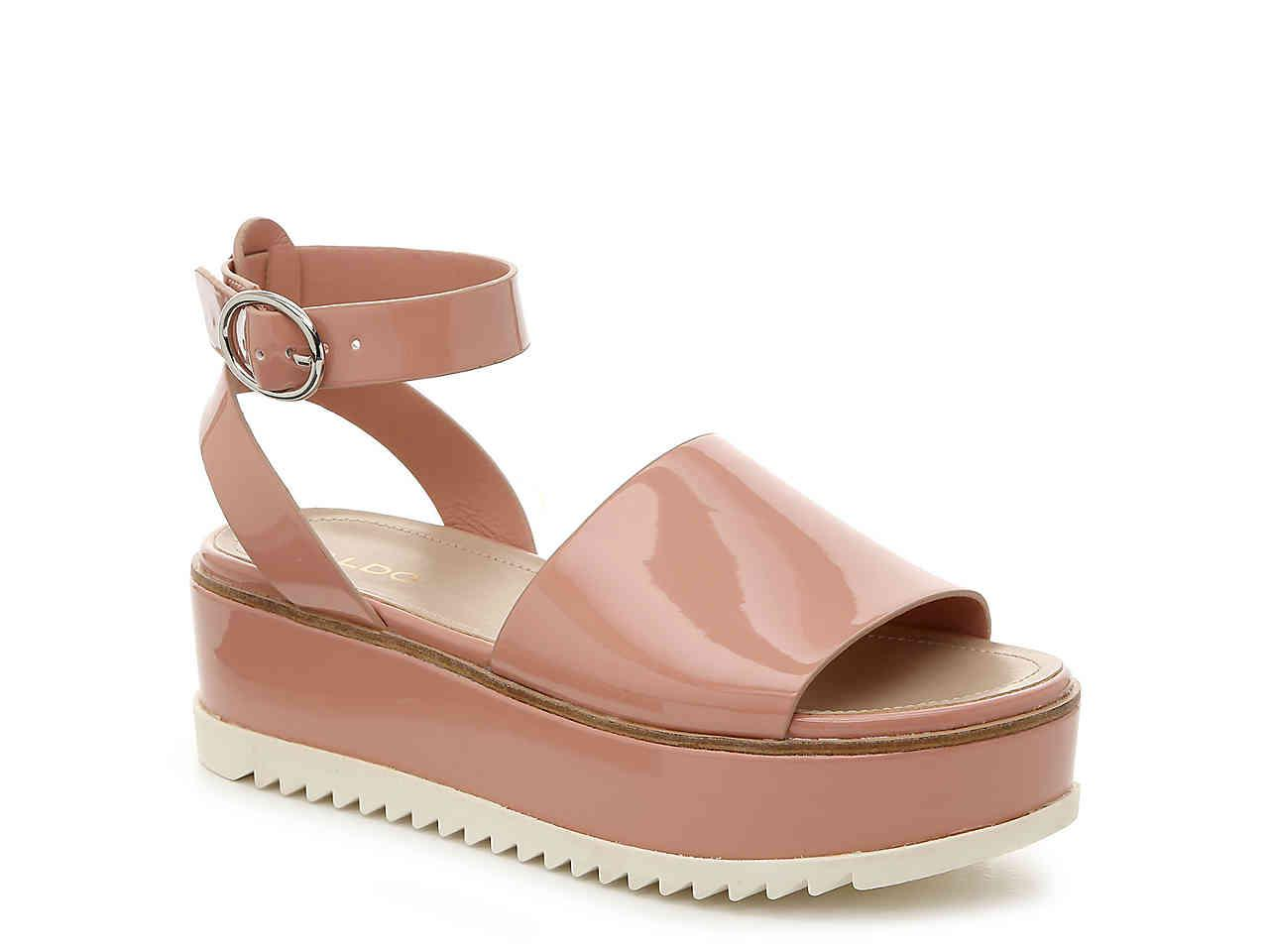 bf3b596a449 ALDO - Pink Jadde Platform Sandal - Lyst. View fullscreen