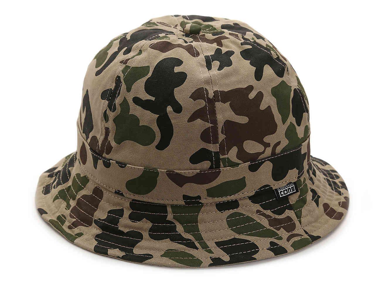 0ec67a3036f Lyst - Converse Camo Bucket Hat in Green for Men