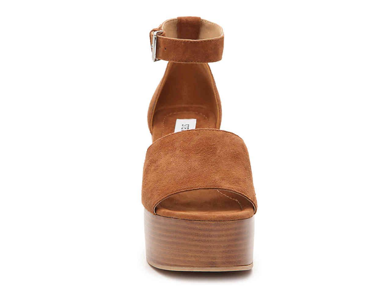 4a0cfdfb400 Lyst - Steve Madden Zala Wedge Sandal in Brown