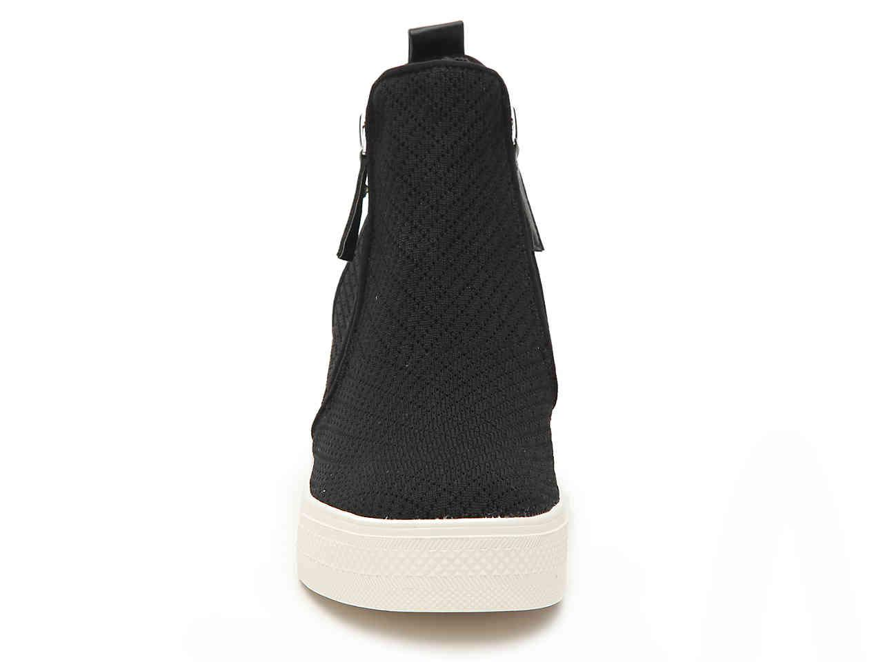 9c7c3fb11f2 Steve Madden - Black Loxley Wedge High-top Sneaker - Lyst. View fullscreen