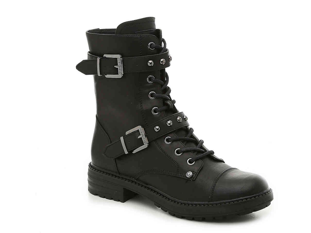 G By Guess Granted Combat Boot In Black Lyst