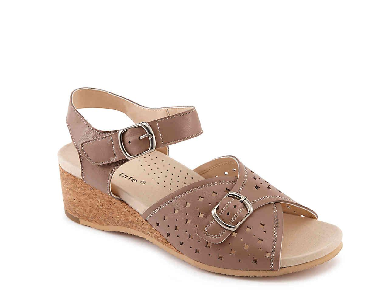 9914a4f1735 Lyst - David Tate Briana Wedge Sandal in Brown - Save 14%