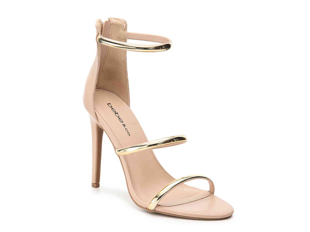 603ae629bea Lyst - Bebe Berdine Sandal in Metallic