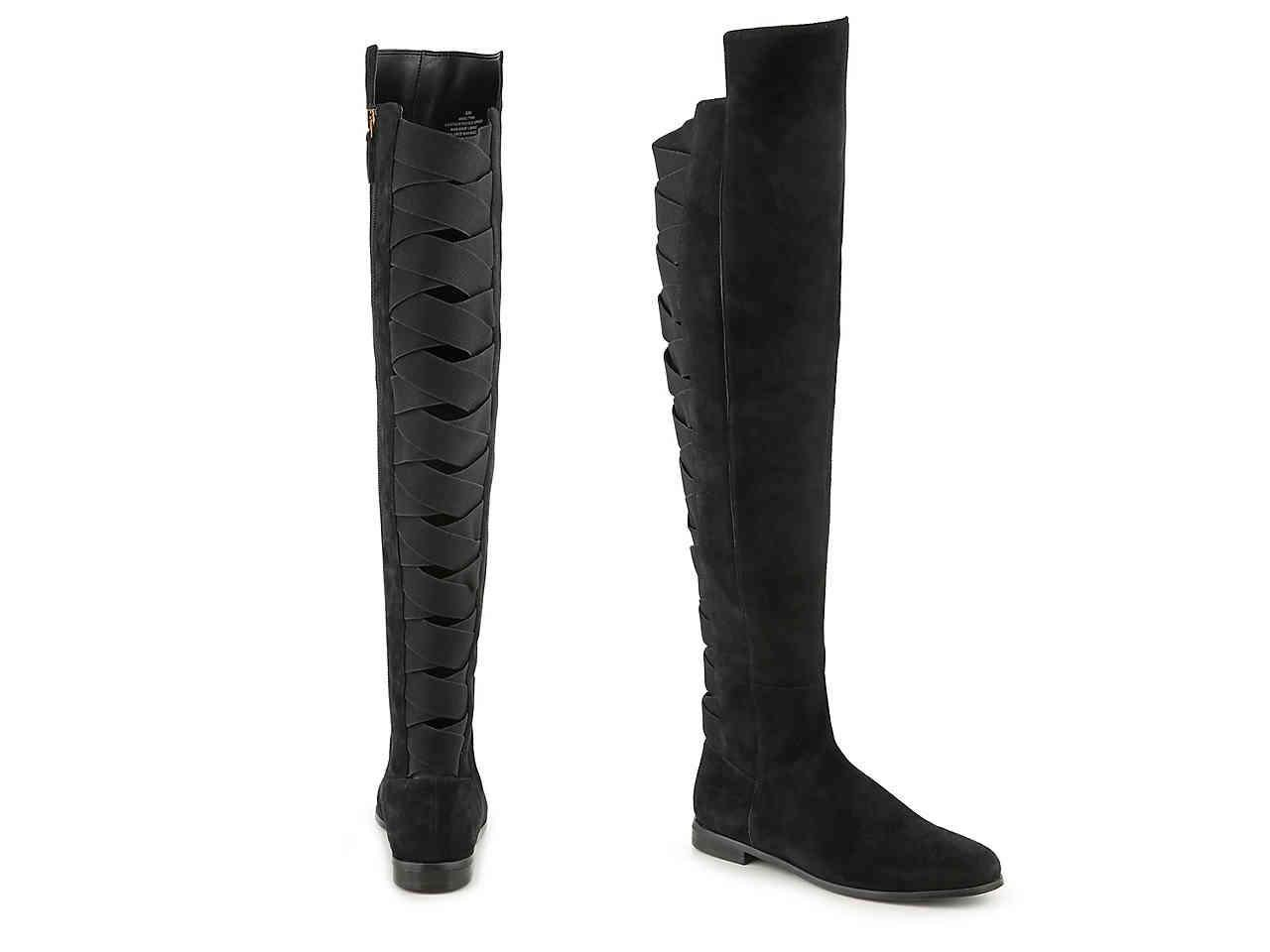 3c9c77129f8 Lyst - Nine West Eltynn Over The Knee Boot in Black