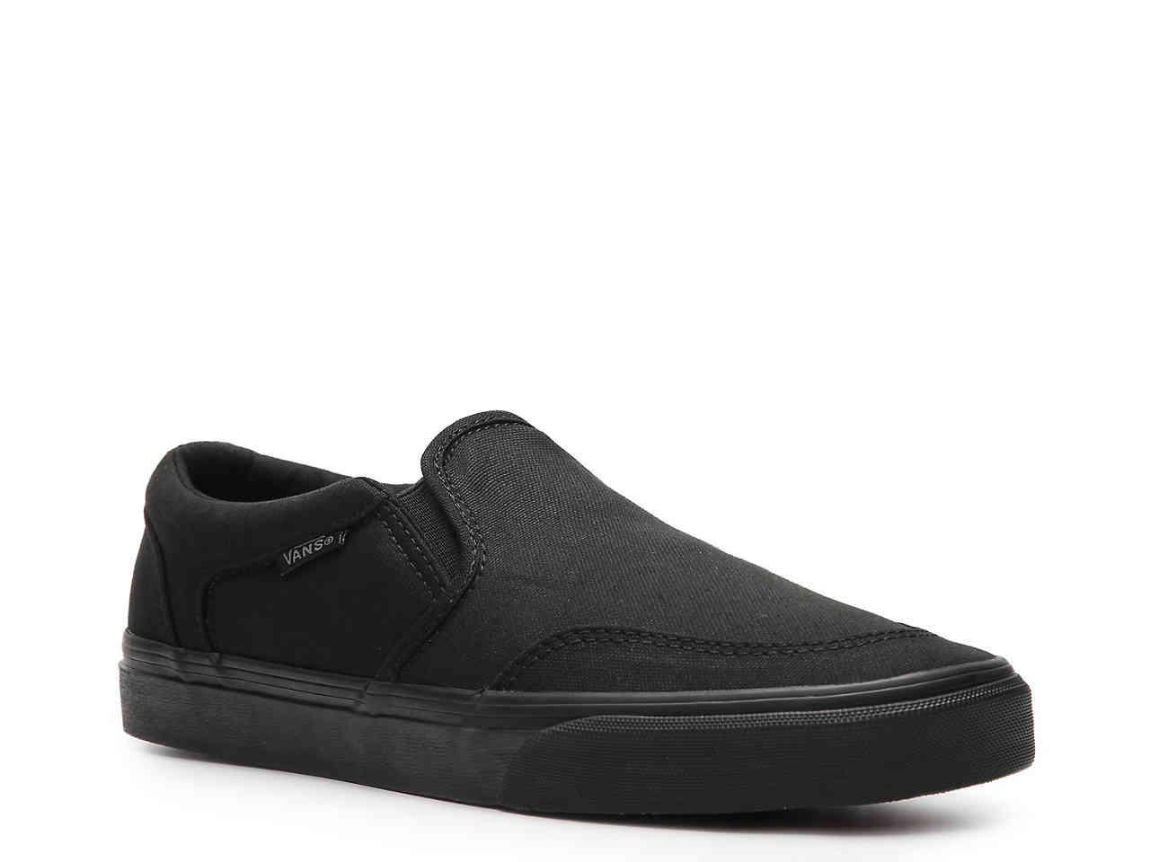 6d6747270dd575 Vans - Black Asher Slip-on Sneaker for Men - Lyst. View fullscreen