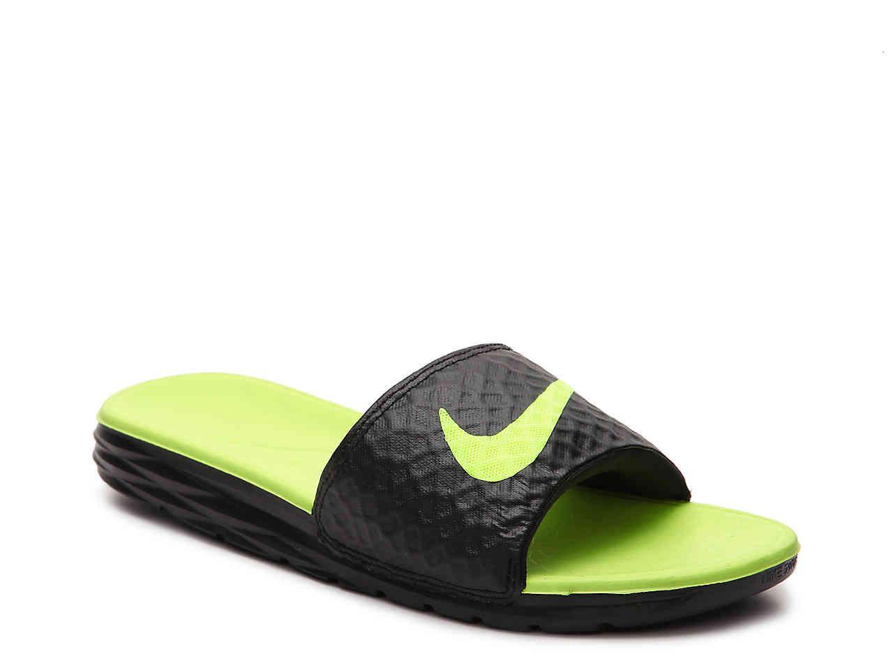 47ef4c9a1 Lyst - Nike Benassi Solarsoft 2 Slide Sandal in Green for Men