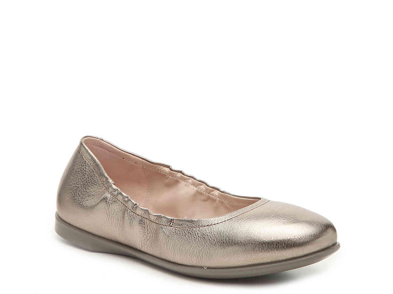 aac99767754c Lyst - Ecco Incise Ballet Flat in Metallic