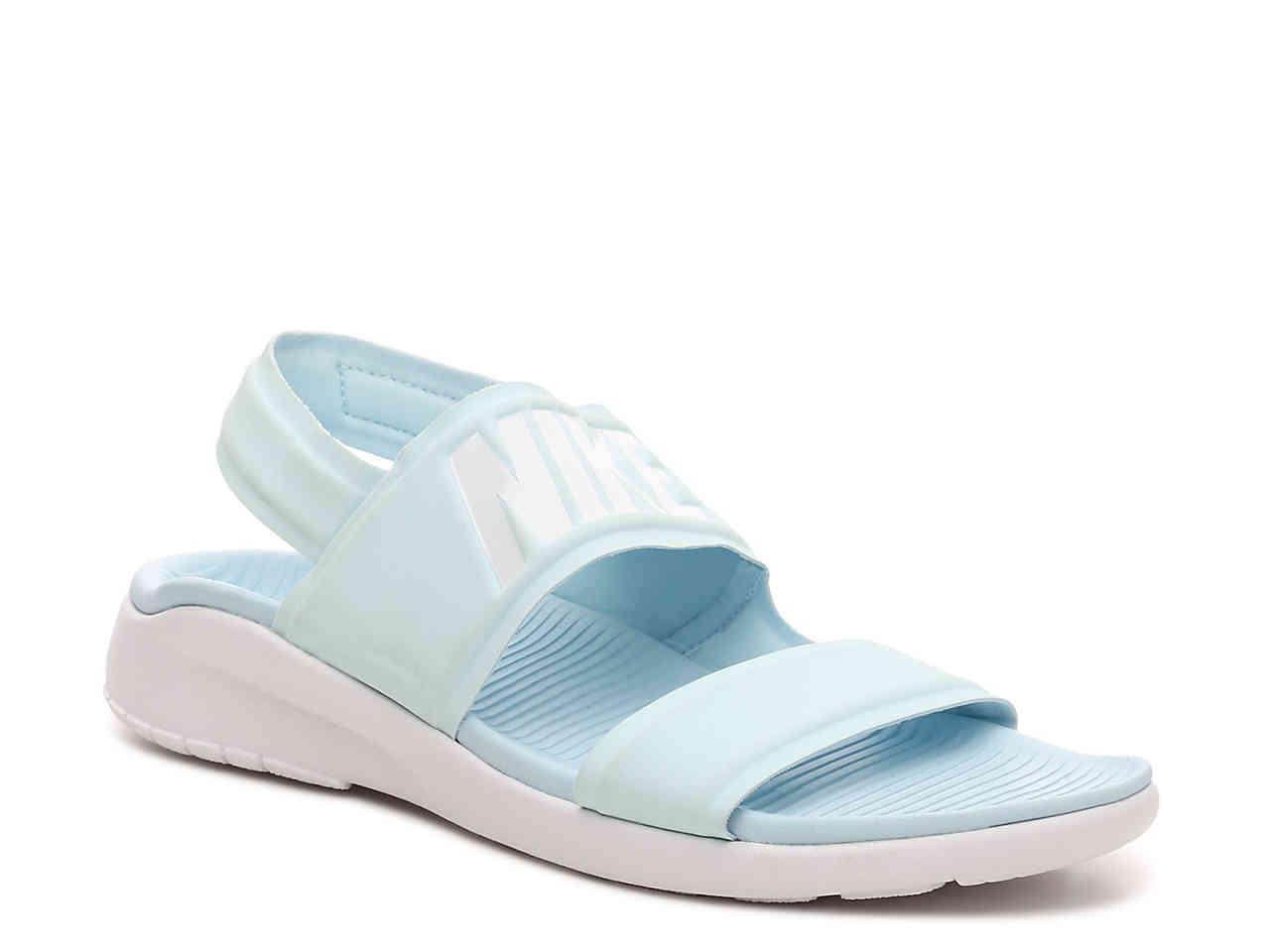 hot sale online ec86c 5c517 inexpensive nike sandals kawa slide sandals 6956e cf2a5  usa lyst nike  tanjun sport sandal in blue 252ba 13507