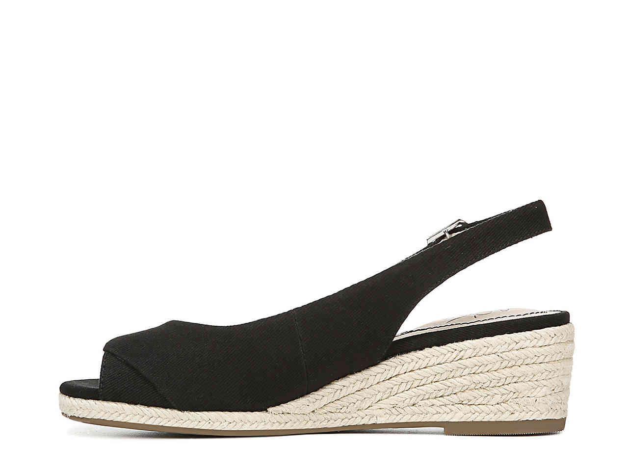 7b751f1308b Women's Black Socialite Espadrille Wedge Sandal
