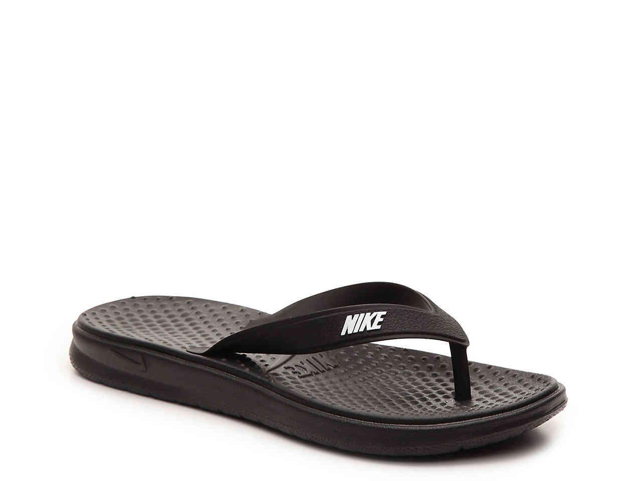 27eb1e83c238 Lyst - Nike Solay Flip Flop in Black