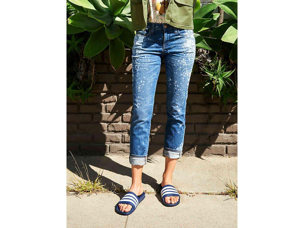 f7f328ce80f27 Adidas - Blue Adilette Cloudfoam Ultra Stripes Slide Sandal - Lyst. View  fullscreen