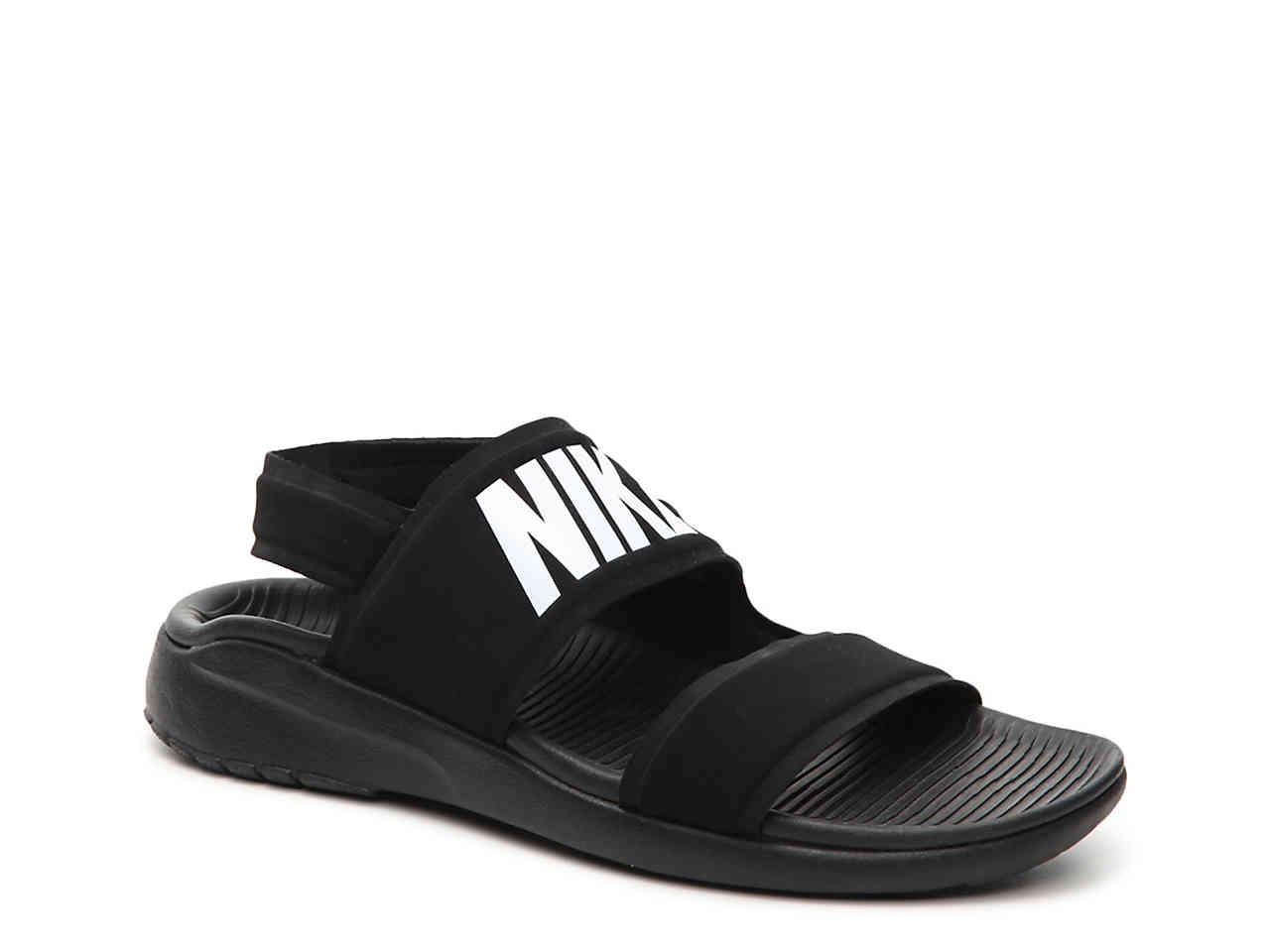 Nike. Men's Black Tanjun Sport Sandal