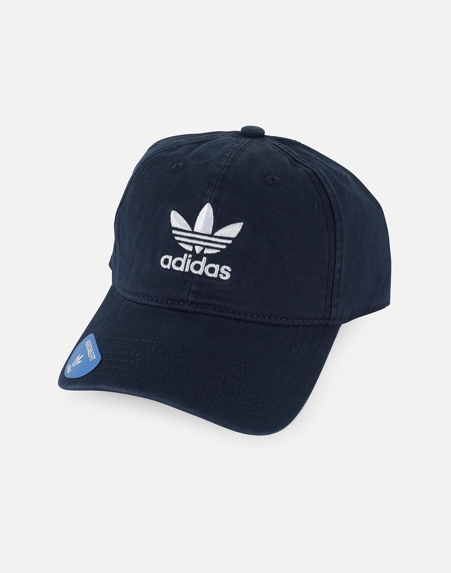 57d9474bfee Lyst - Adidas Originals Precurved Washed Strapback Hat in Blue for Men