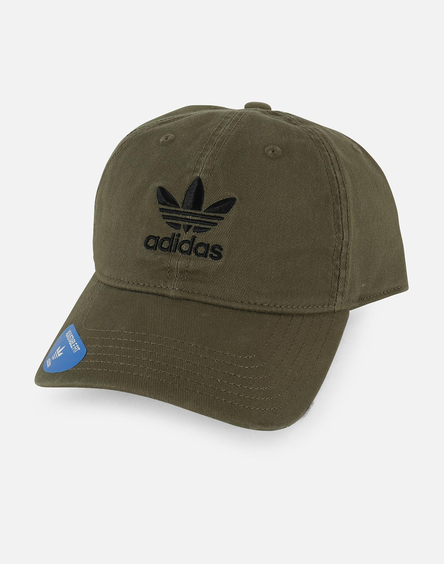 507650366cd ... where can i buy lyst adidas originals precurved relaxed strapback hat  in green for men cf3aa