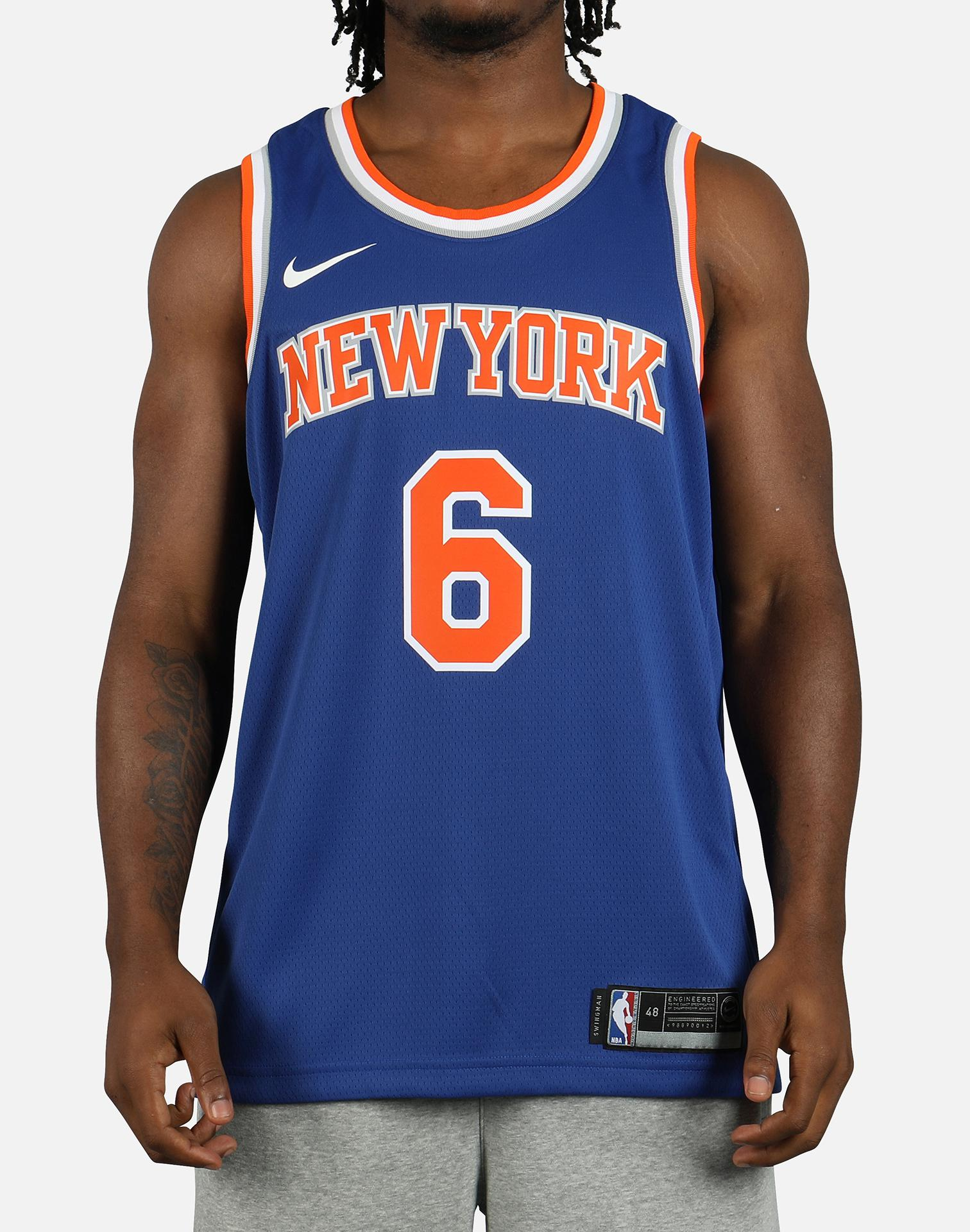Lyst nike nba new york knicks icon edition swingman jersey in blue jpg  1512x1920 Nike swingman 00431edcf