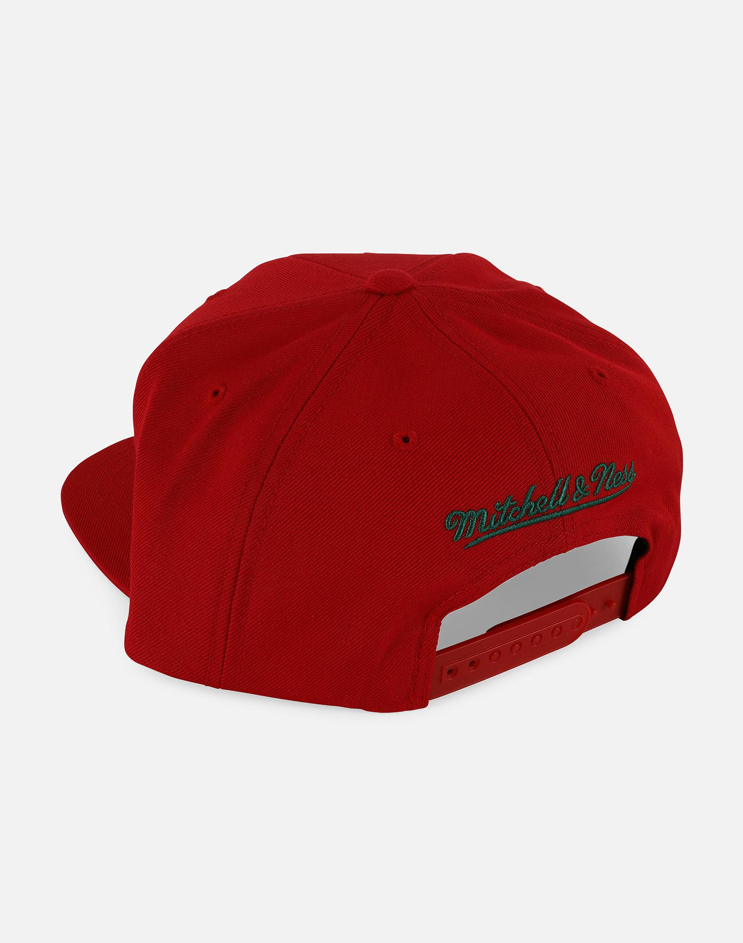 quality design 6fd72 9f0d5 ... canada lyst mitchell ness nba milwaukee bucks wool snapback hat in red  for men 319f1 c9ad0