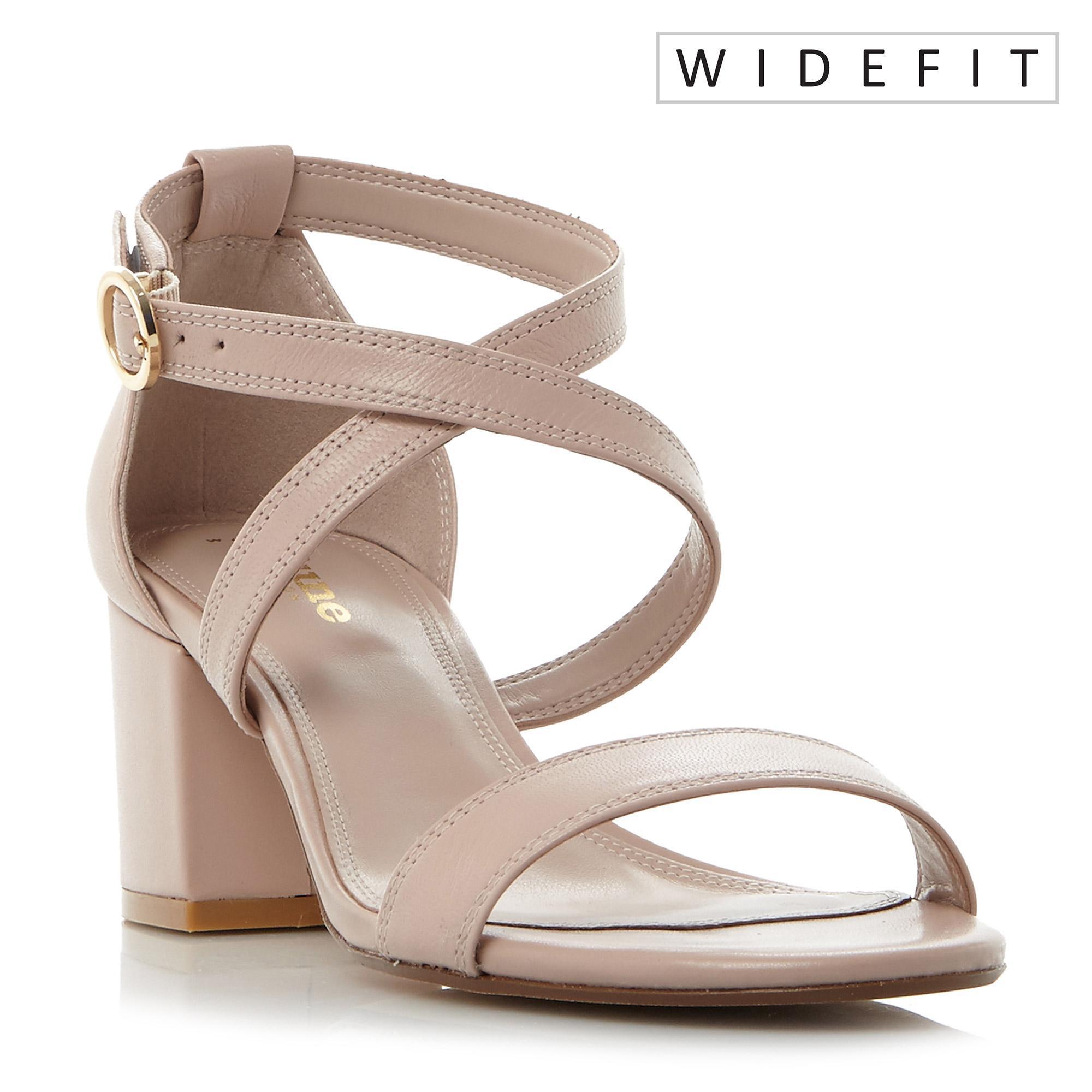 67173186b1a0 Dune. Women s Cross Strap Block Heel Sandal