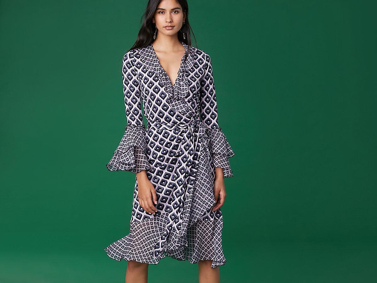 2f945a2277e ... Carli Wrap Dress - Lyst · Visit Diane von Furstenberg. Tap to visit site