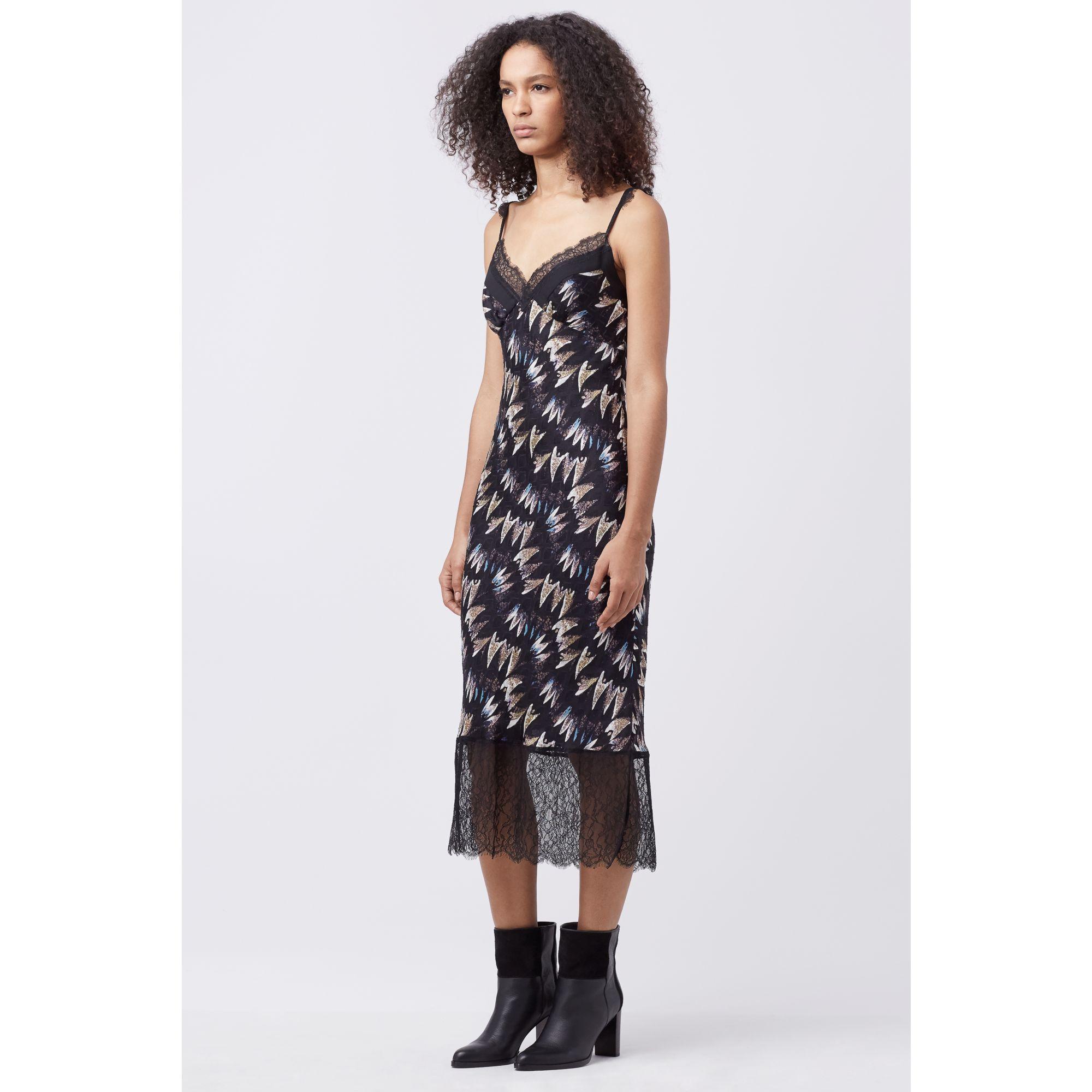 ea53df3bef1a4 Lyst - Diane von Furstenberg Dvf Margarit Silk Slip Dress