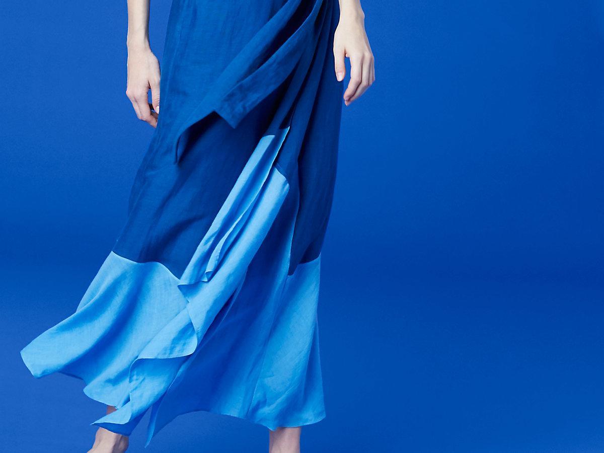 d23423fd527aa Diane von Furstenberg Draped Wrap Beach Skirt in Blue - Lyst