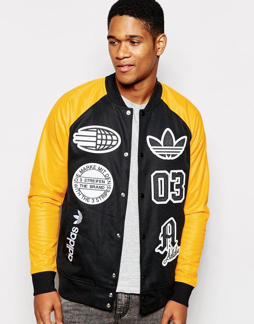 fe79757507e6 Adidas Originals Logo Stadium Top in Black for Men - Lyst