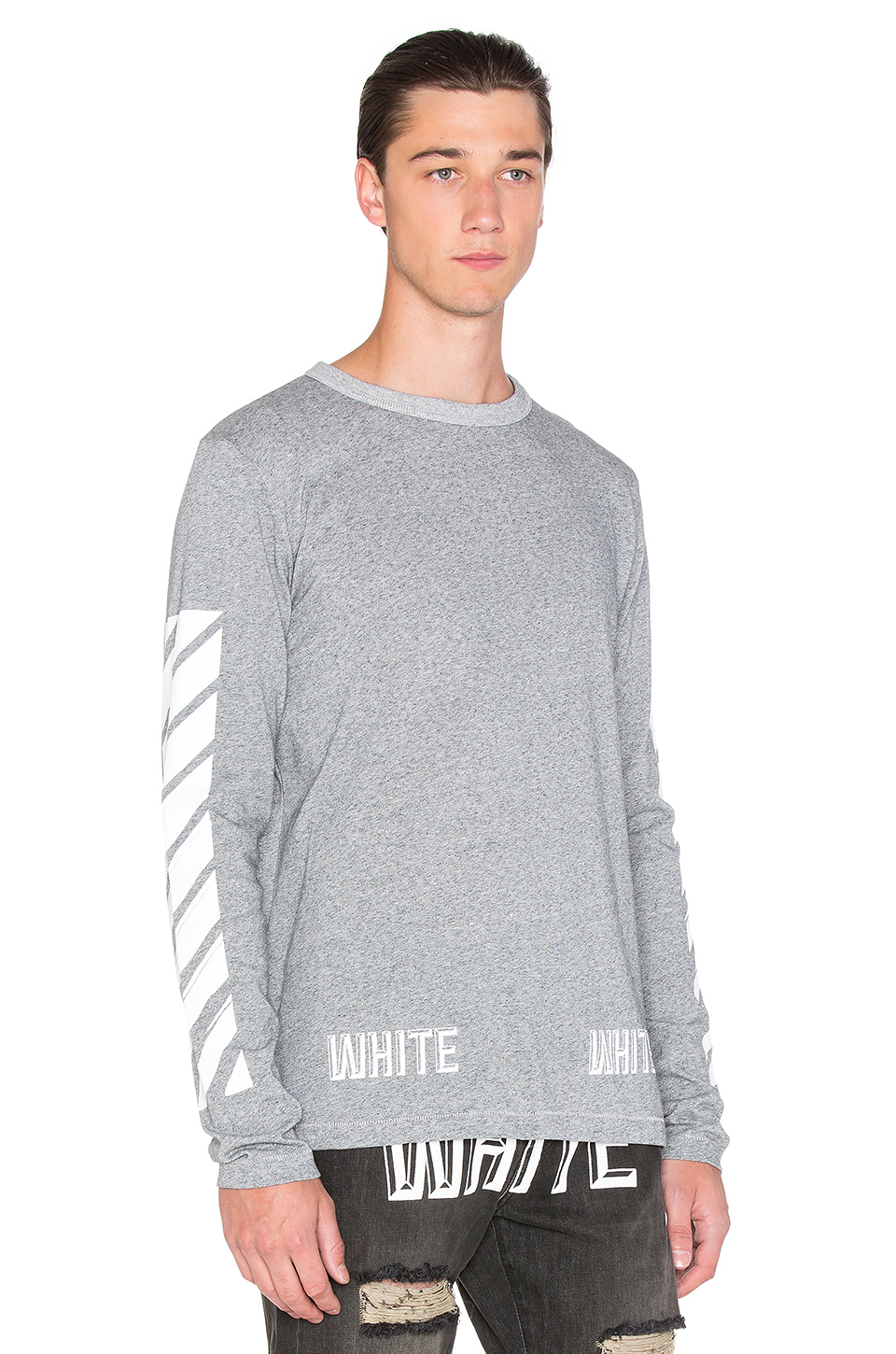 Off-white c/o virgil abloh 3d White Long Sleeve Tee in Gray for ...