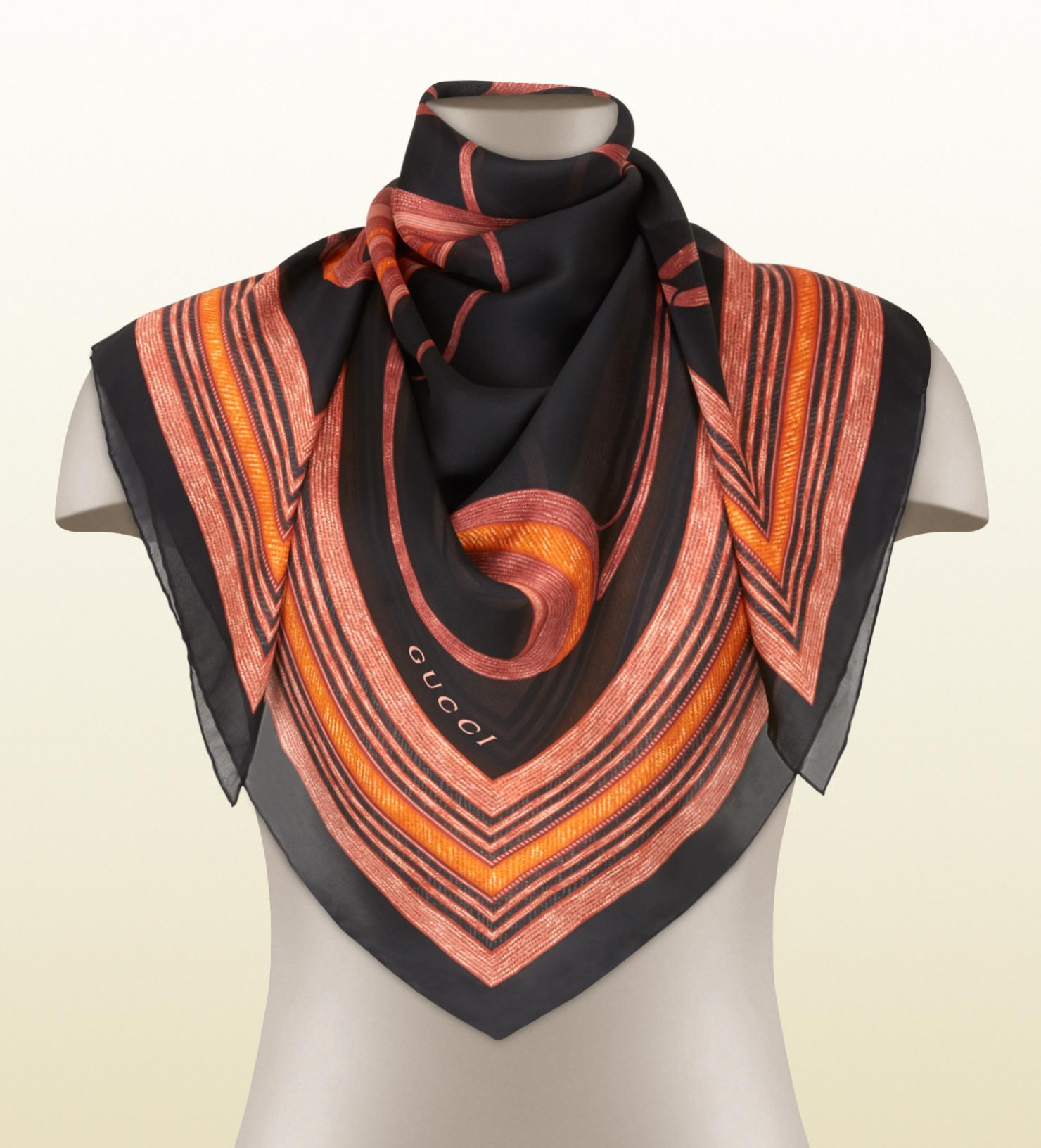 Patchwork print silk scarf - Multicolour Gucci WH0ZQwT