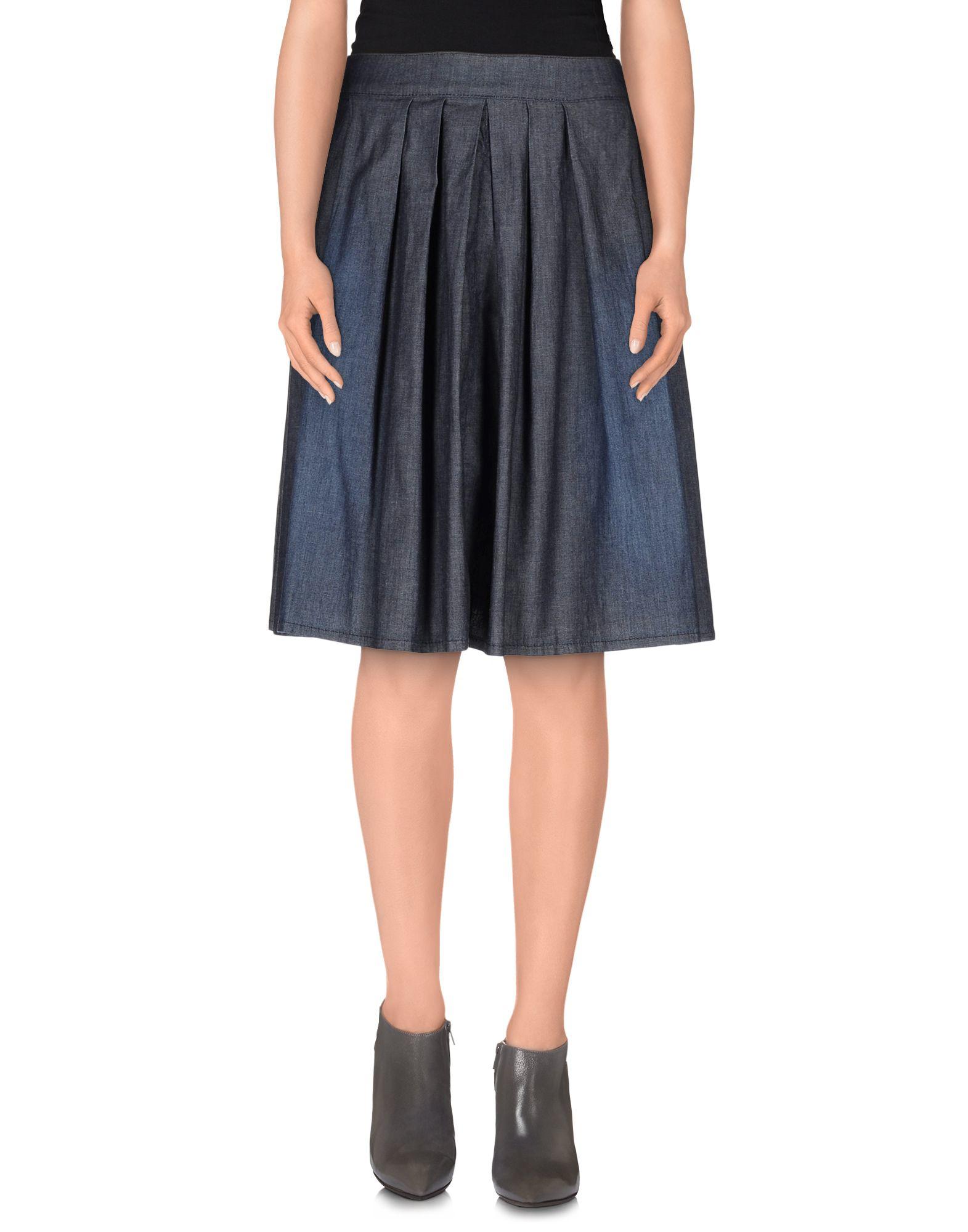 2w2m denim skirt in blue lyst