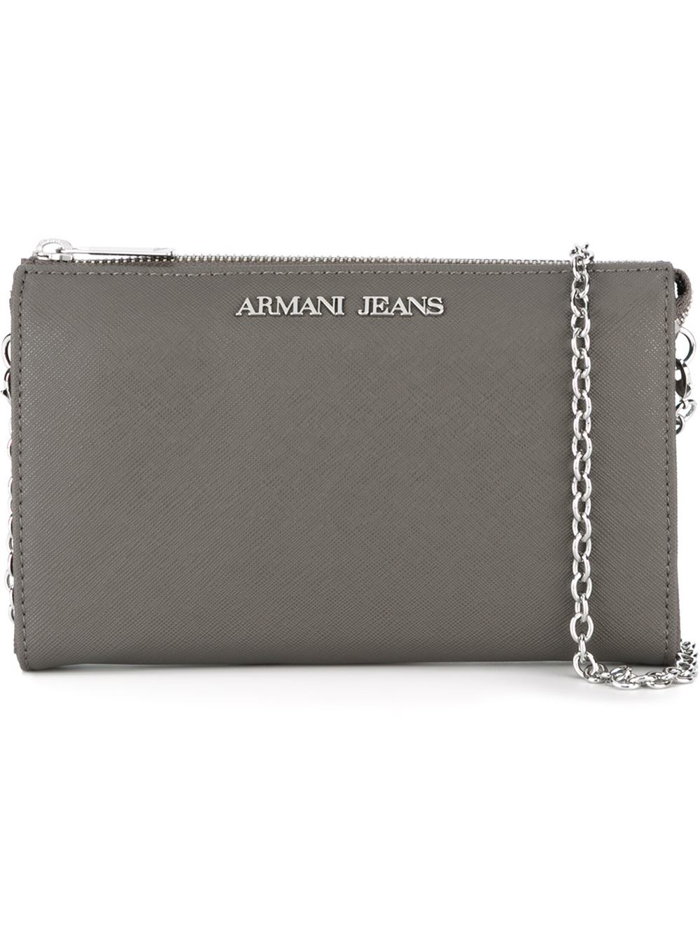 Lyst - Armani Jeans Zipped Slim Cross Body Bag in Gray eb723f2f3ce
