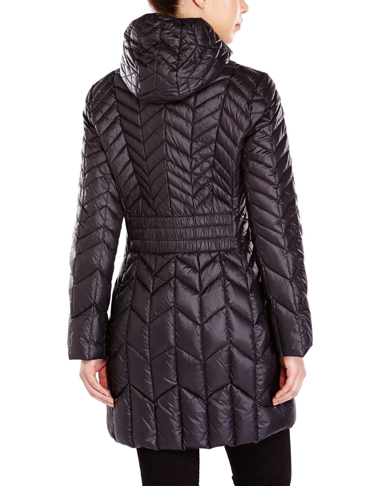 Lyst London Fog Hooded Packable Down Jacket In Black