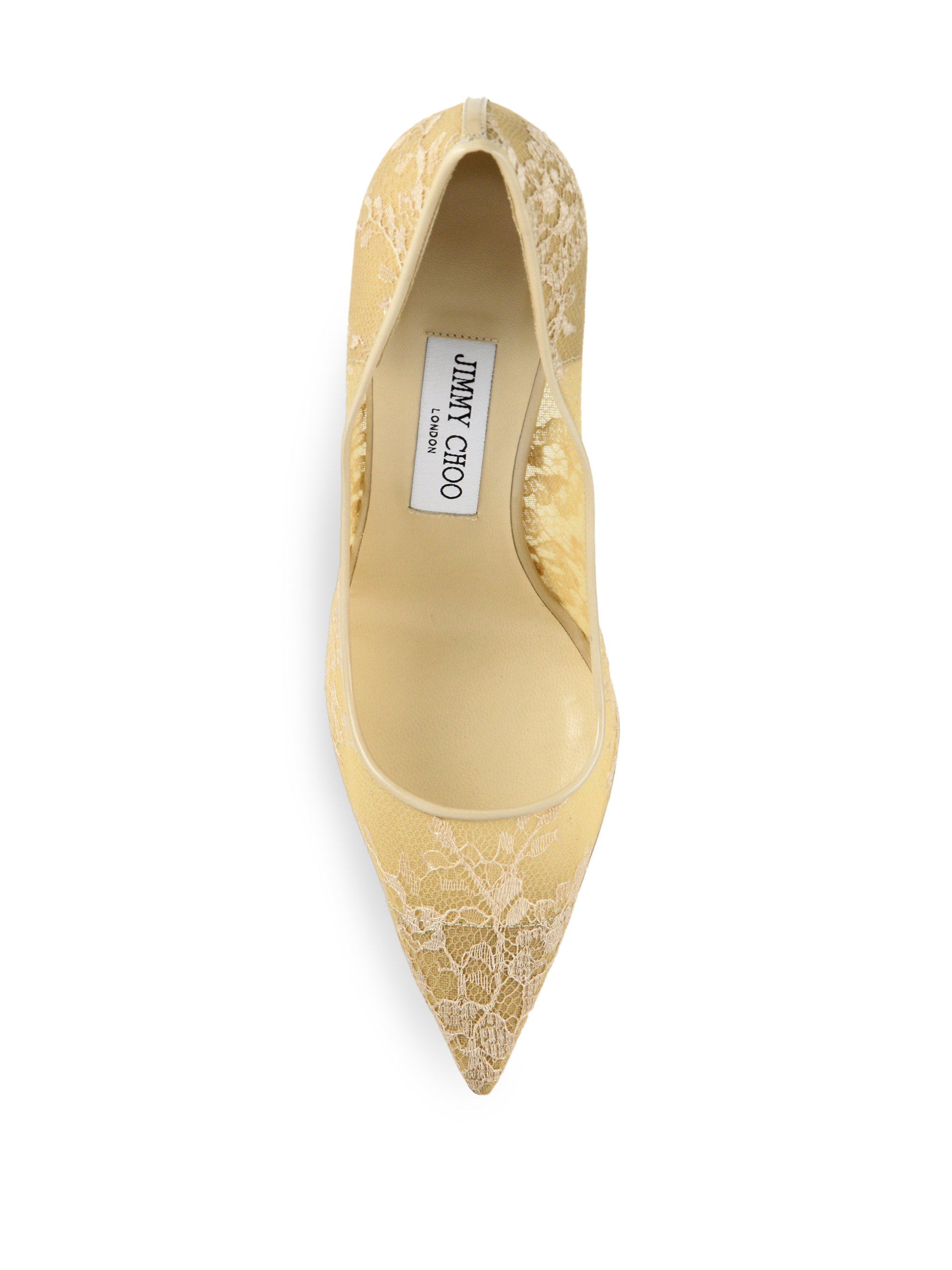Jimmy Choo Abel 90 Lace Point Toe Pumps In White Lyst