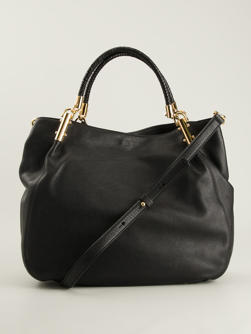 d683518fe350 Michael Kors Skorpios Large Shoulder Bag Black Leather | Stanford ...