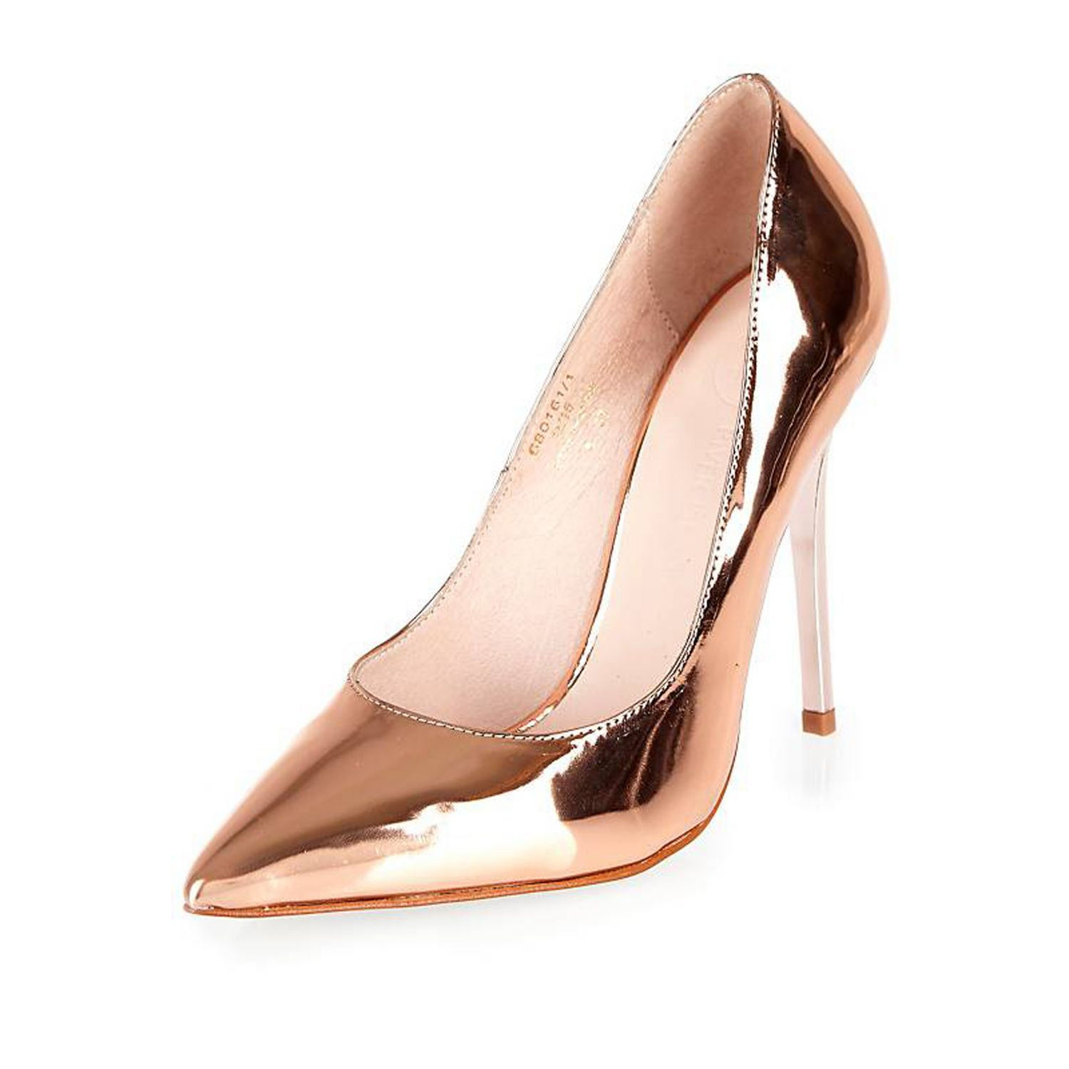 Pink Metallic Heels - Is Heel