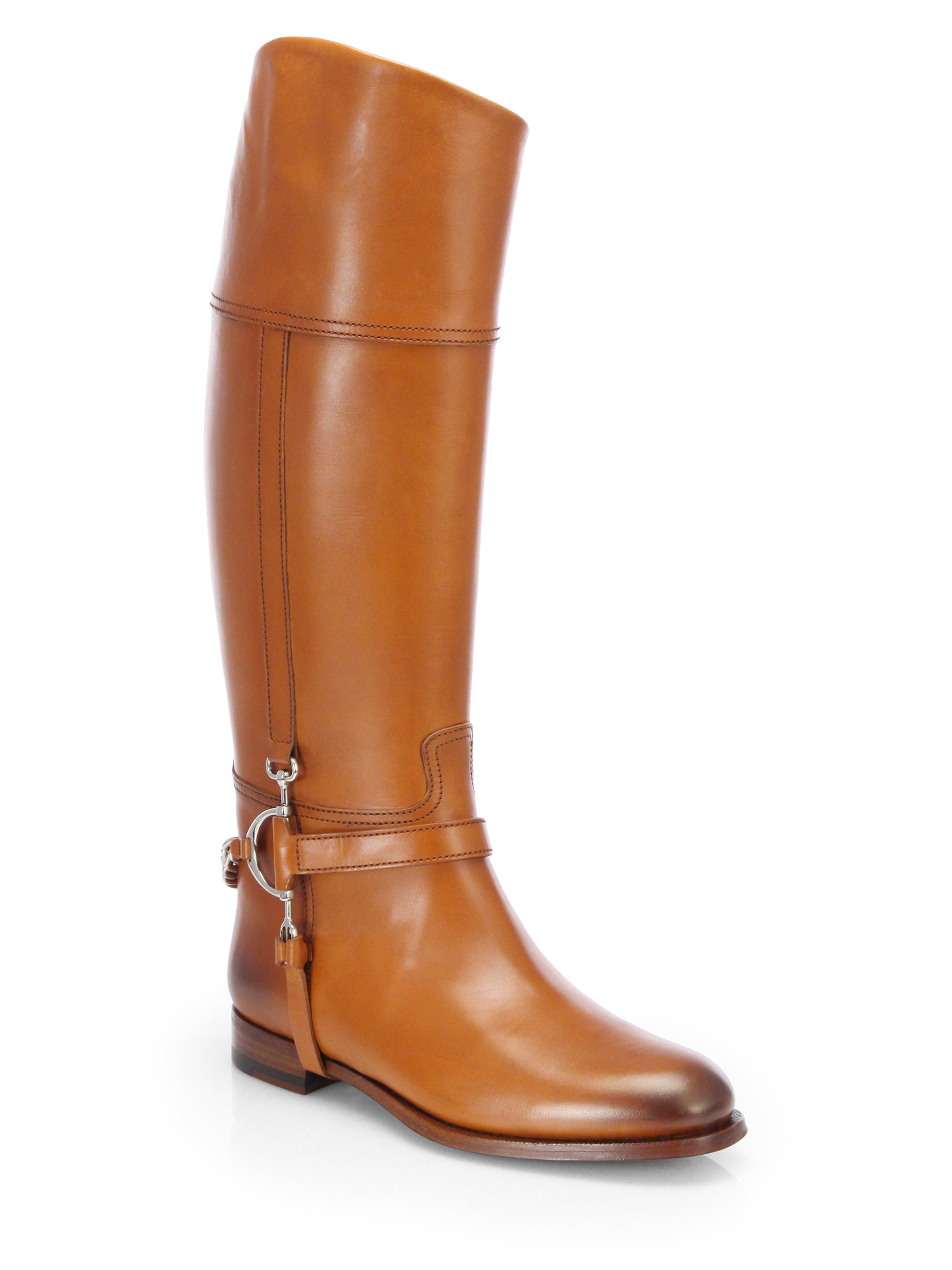 Womens leather gloves australia - Collection Sandra Harness Leather Riding Boots In Brown Tan Lyst