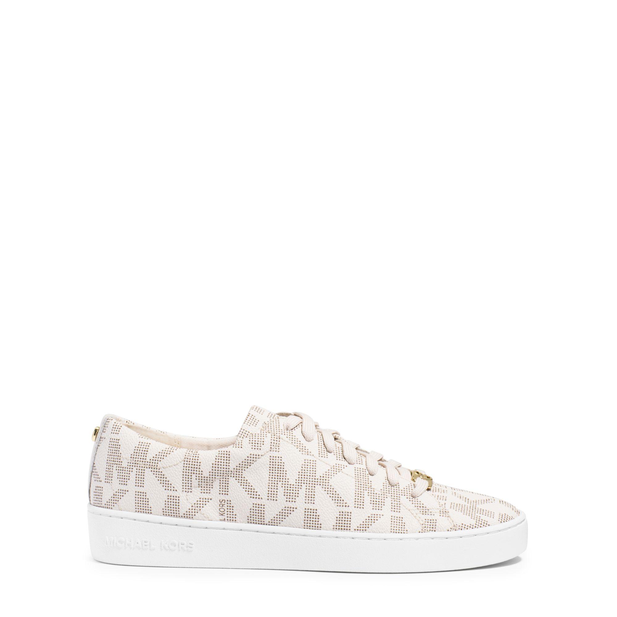 28ceee69c2f Michael Kors Keaton Logo Sneaker in White - Lyst