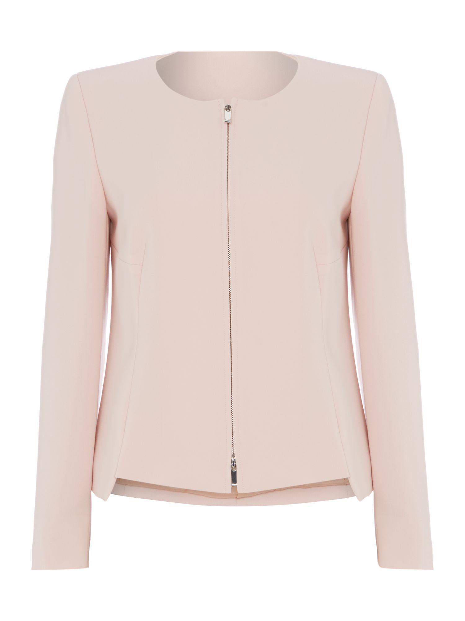 Max mara Pec Smart Collarless Jacket in Pink | Lyst