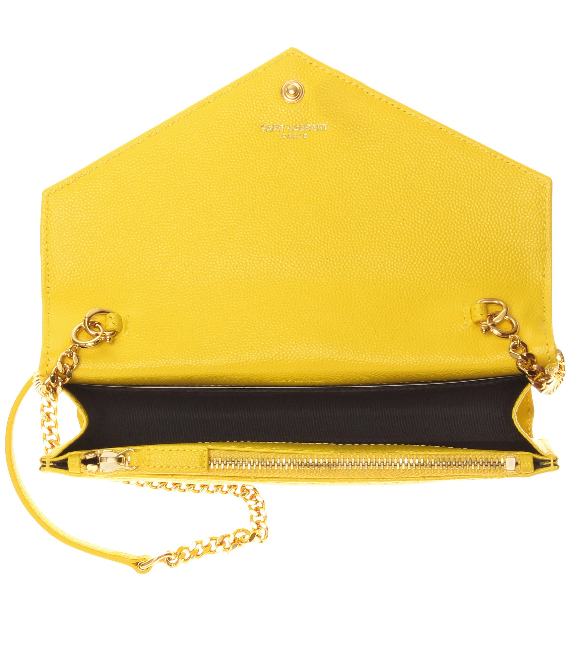 289da5768c73 Lyst - Saint Laurent Classic Monogram Quilted Leather Shoulder Bag ...