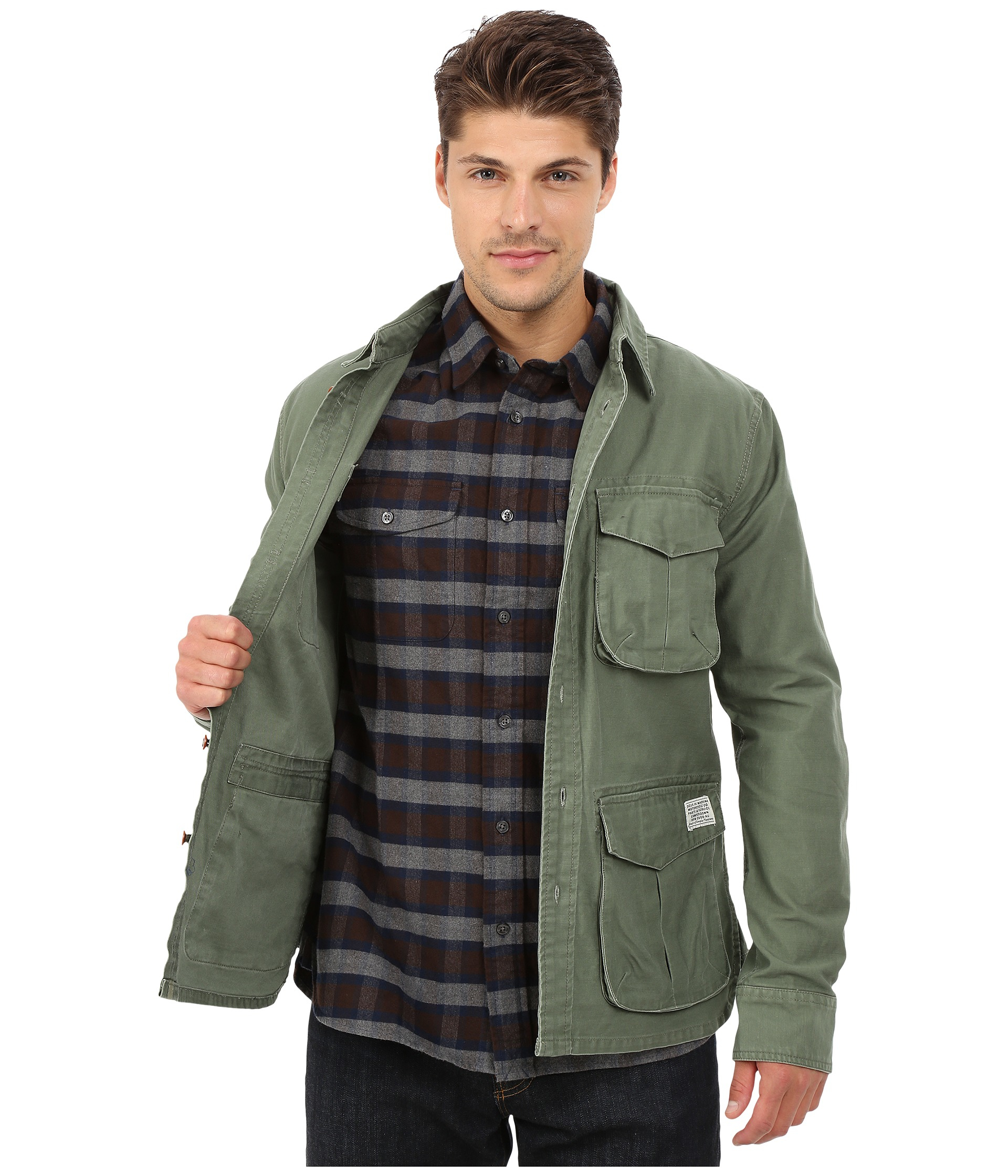 Deus ex machina Bravo Overshirt Jacket in Green for Men | Lyst