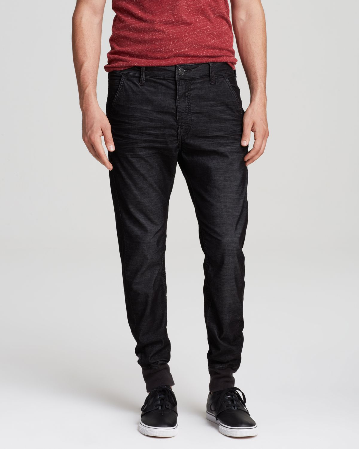 True religion Jeans - Corduroy Runner Relaxed Fit In Black ...