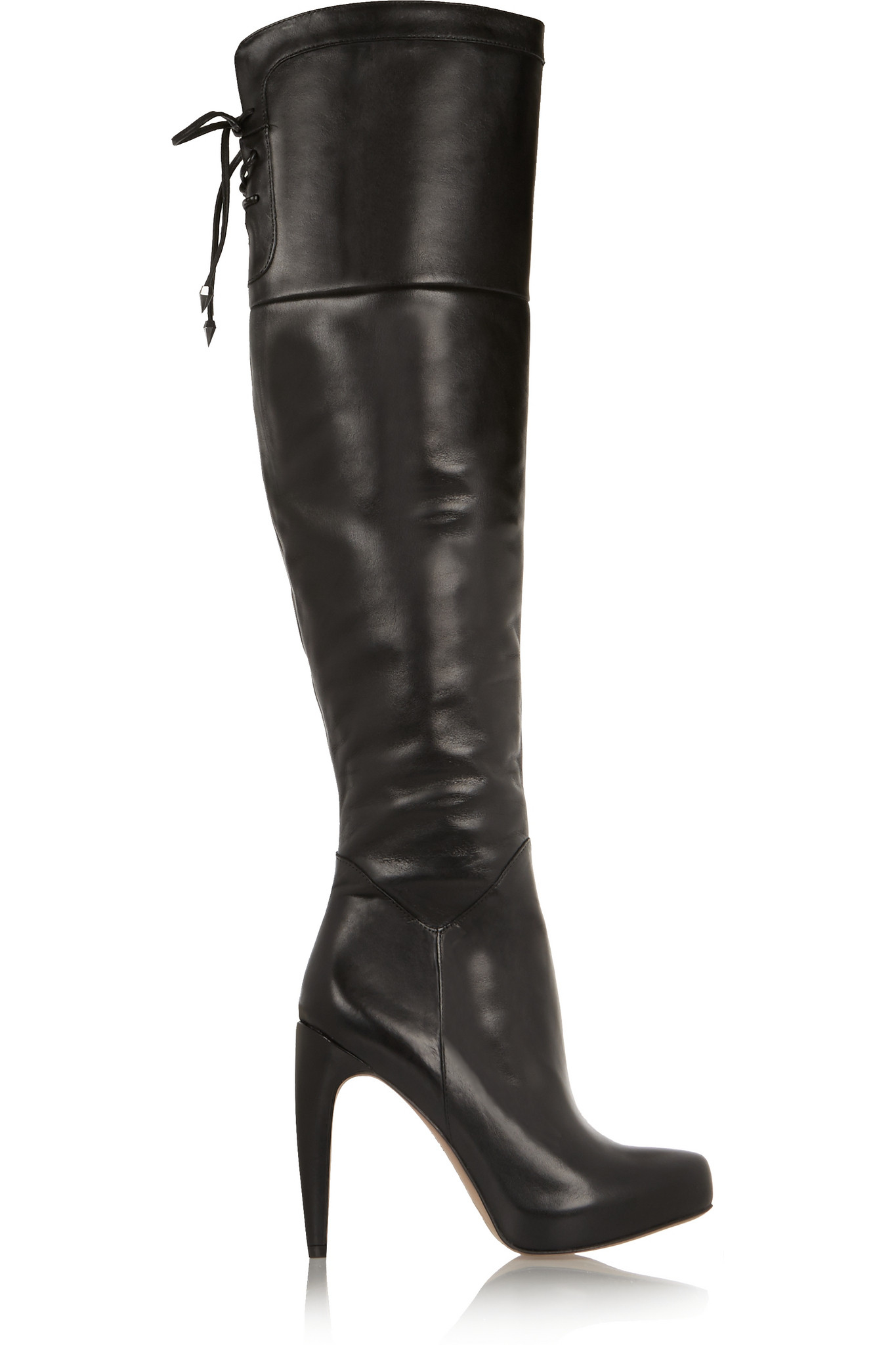 cdc32e392cb0f0 Sam Edelman Kayla Leather Over-the-knee Boots in Black - Lyst
