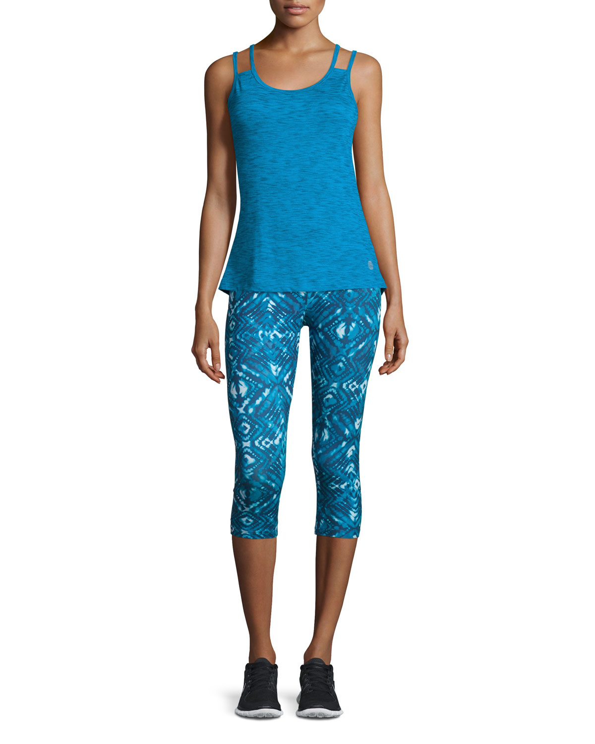 Balance Collection Bella Scoop Neck Tank In Blue Lyst