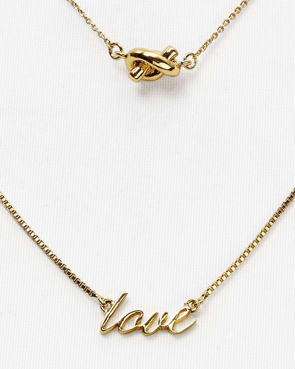 lyst kate spade new york like a charm love pendant necklace 15