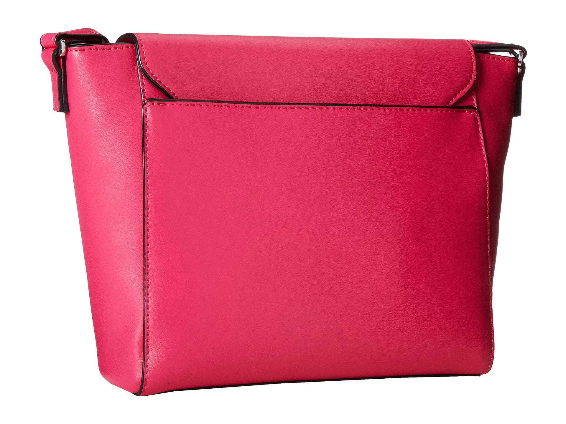 52806ee5d8 Lyst - Vera Bradley Solid Pu Flap Crossbody in Pink
