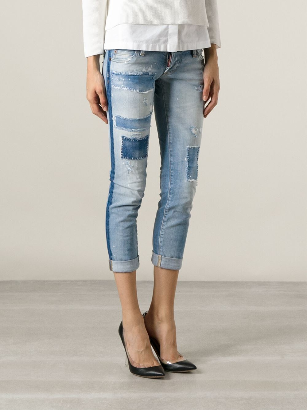 Skinny cropped jeans Dsquared2 gBY2otqo