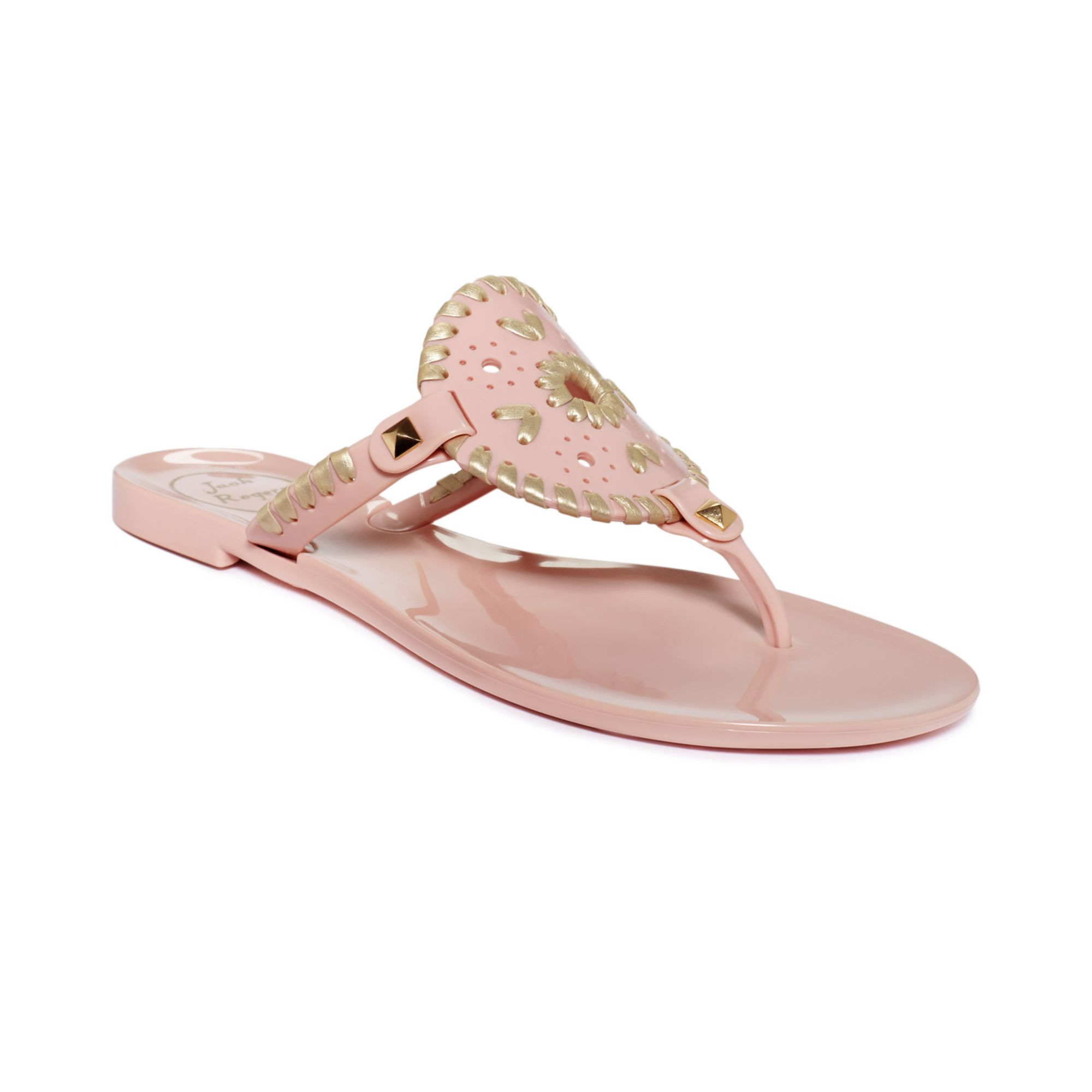 d751e4e7914 Lyst - Jack Rogers Georgica Thong Jelly Sandals in Pink